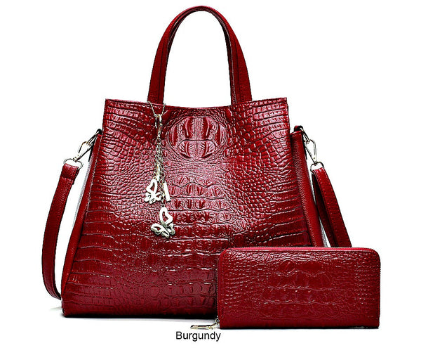 Hanerou Alligator Leather Shoulder Bag