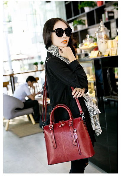 Large Genuine Leather Shoulder Bag