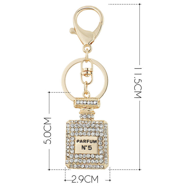 DALAFUL Crystal Charm Perfume Bottle Keychain