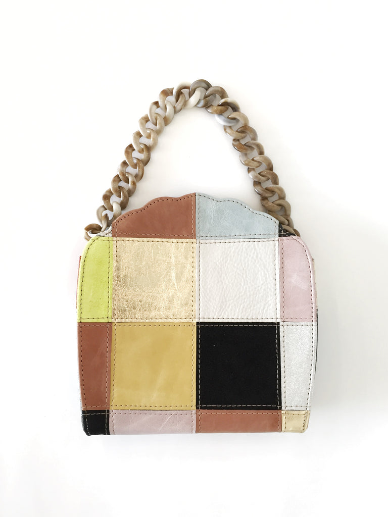 CAB Collection Eleanor Shell Evening Bag Patchwork