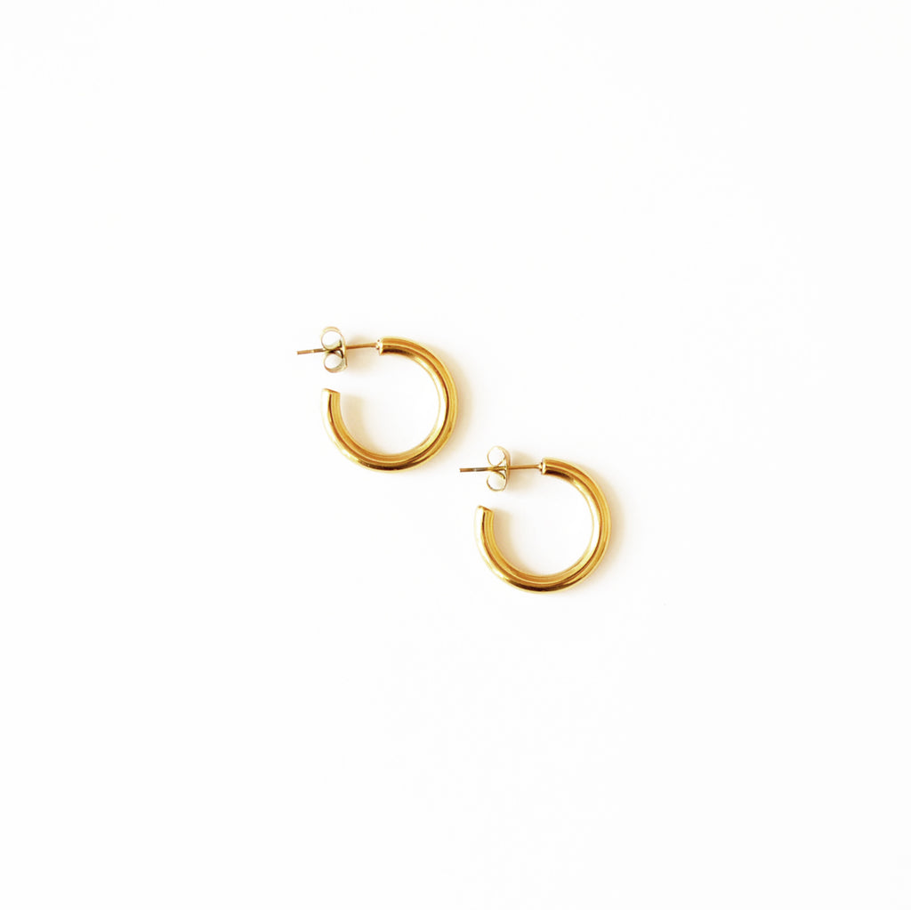Machete Mini Gold And Silver Hoop Earrings