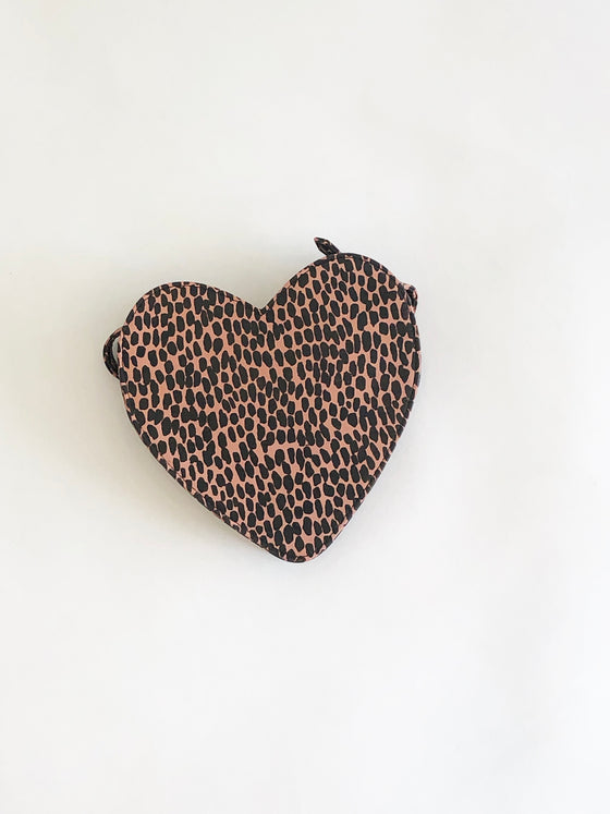 CAB Collection Heart Fanny Pack Pink Cheetah