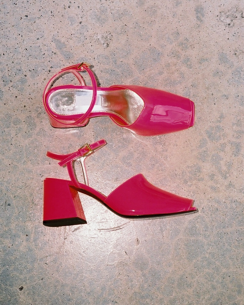 Suzanne Rae Back Sandal Neon Pink- LAST PAIR