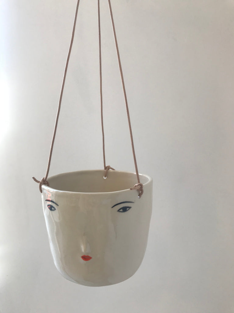 Rami Kim Girl Face Hanging Pot