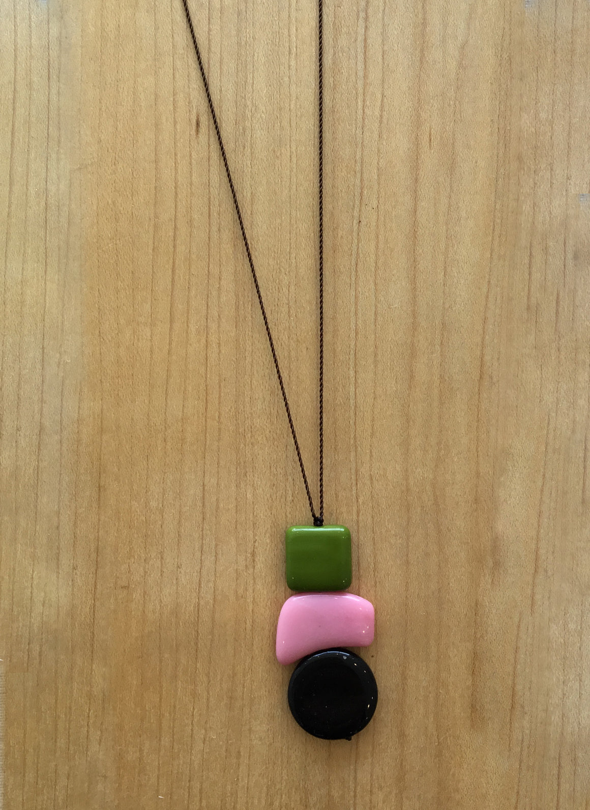 I. Ronni Kappos Modernist Stack with Pink Necklace