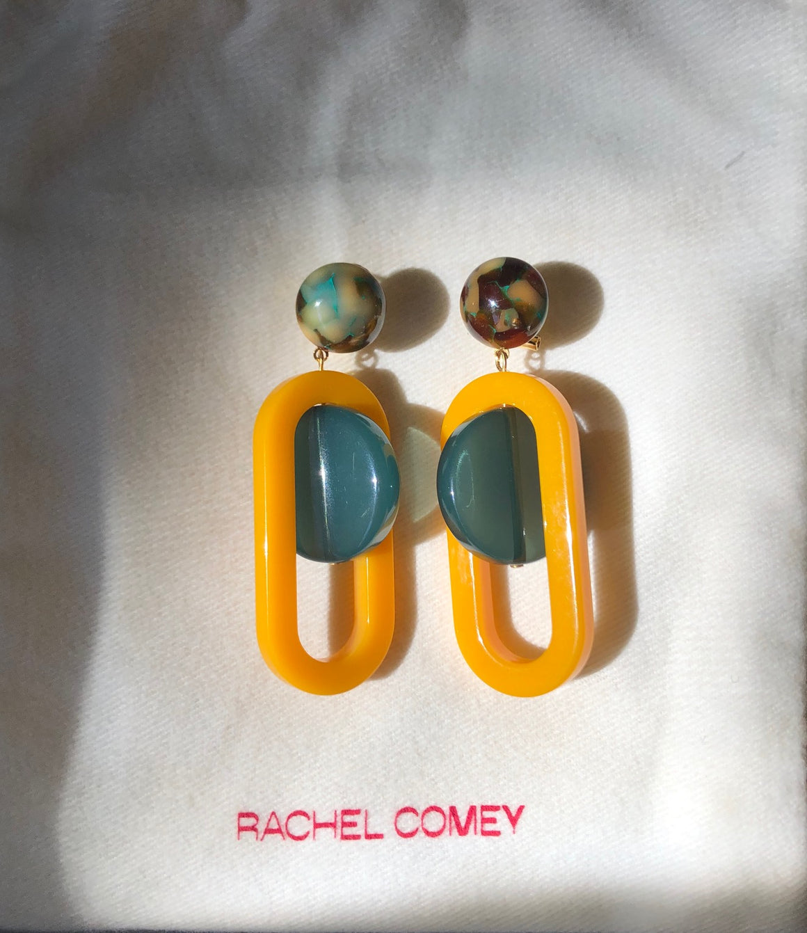 Rachel Comey Lohr Earrings green/mustard