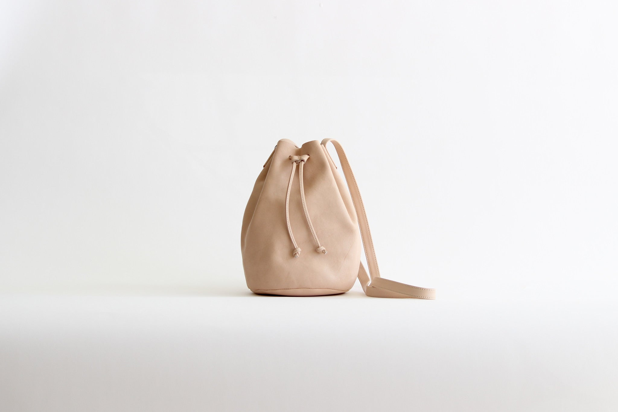 baggu leather drawstring petal pink bag womens