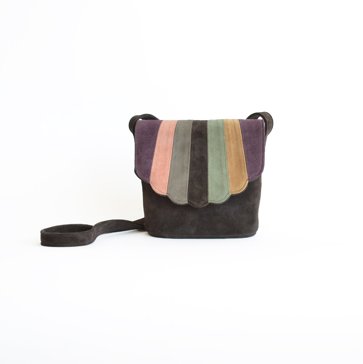CAB Collection Desert Brown Rainbow Shell Bag