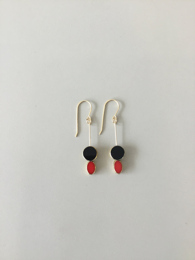 I. Ronni Kappos lady bug earrings