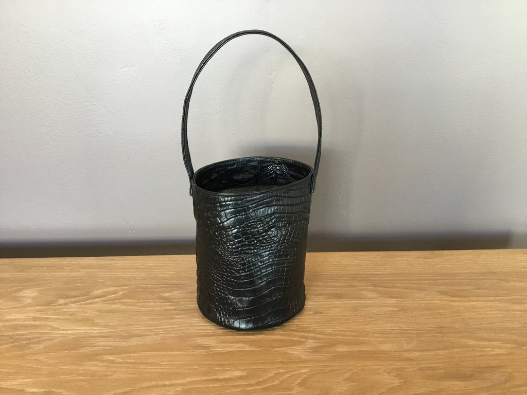 CAB Collections Bonet bucket bag- black croc-effect