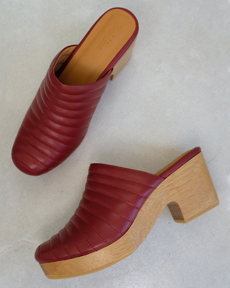 Beklina Lego Clog Ox Blood
