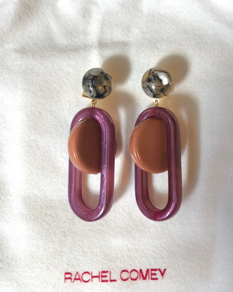 Rachel Comey Lohr earrings burnt orange/purple