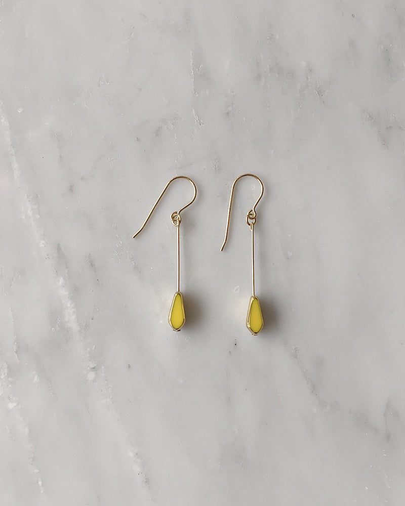 I. Ronni Kappos Yellow Tear Drop Earrings