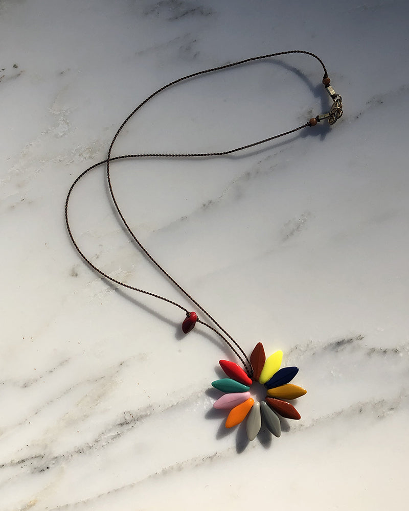 I. Ronni Kappos Bright Spring Flower Pendant Necklace
