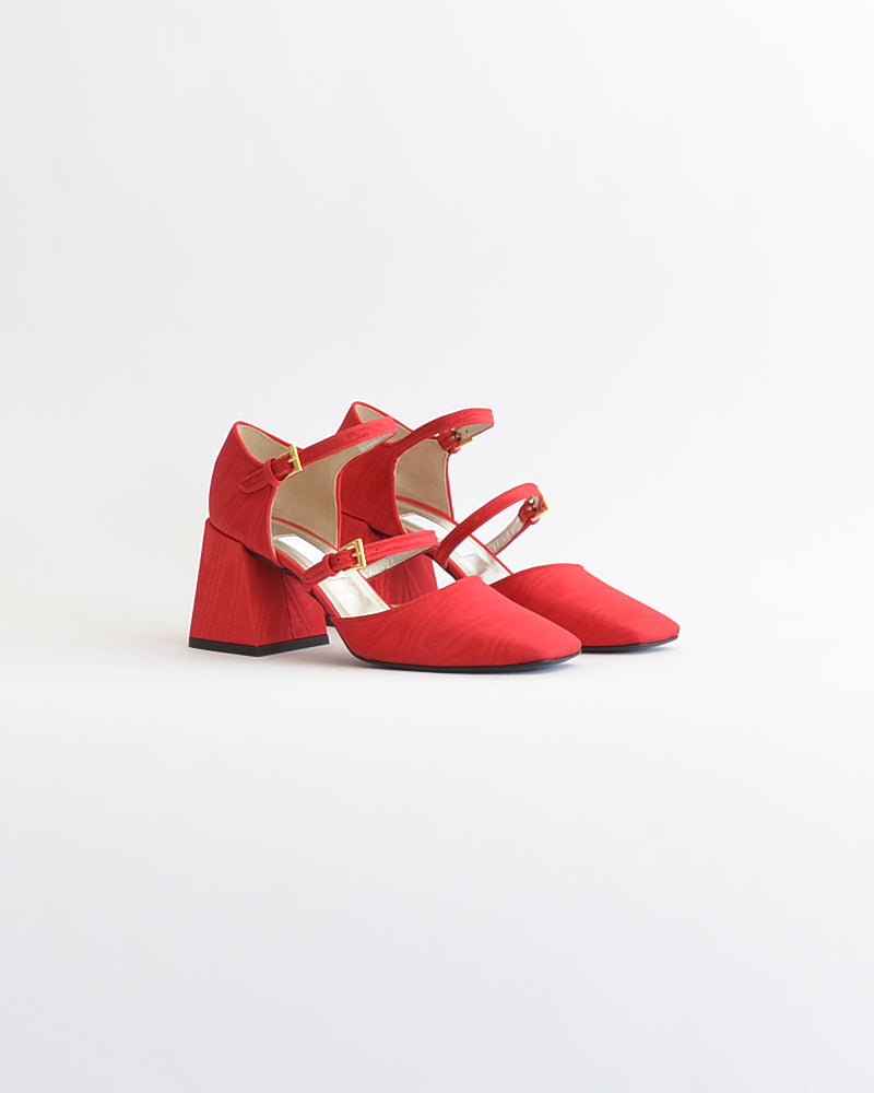 Suzanne Rae Double Strap Mary Jane Red