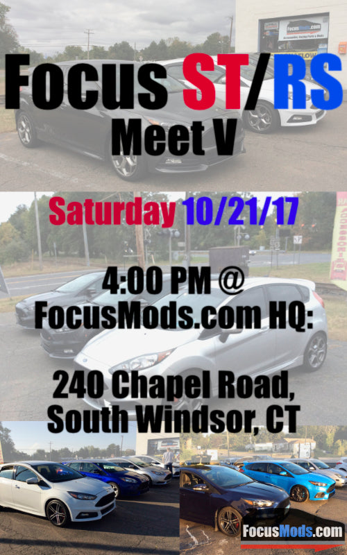 Focus ST / RS Meet, Saturday October 21st, Starting @ 4:00 PM, At FocusMods HQ