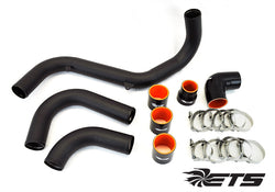 ETS Intercooler Piping, Wrinkle Black: 2016+ Ford Focus RS