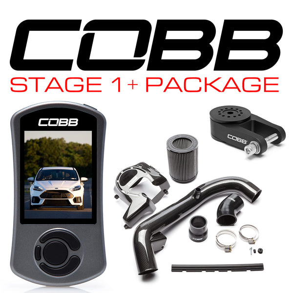 COBB Tuning Stage 1+ Carbon Fiber Power Package: 2016 - 2018 Ford Focus RS