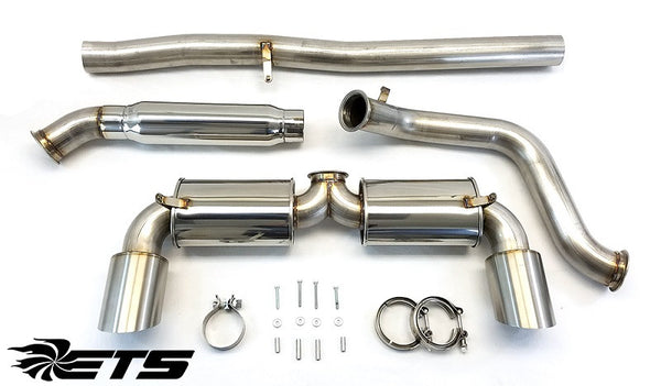 ETS Catback Exhaust System, Mufflered and Non Resonated, 2016+ Ford Focus RS