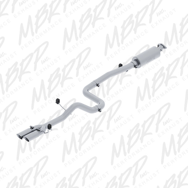 "2014 - 2017 Ford Fiesta ST 1.6L Ecoboost 3"" Cat Back Exhaust, Dual Outlet, Aluminzed"