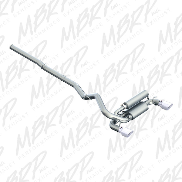 "2016 - 2017 Ford Focus RS MBRP 3"" Cat Back Exhaust, Dual Outlet, Aluminized"