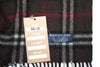 Vintage Dark Grey/Red Burberry Nova Check Cashmere Scarf
