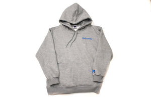 Grey Retroflex Basics Embroidered Hoody