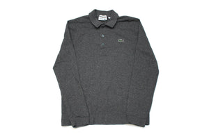 Dark Grey Lacoste L/S Polo Shirt