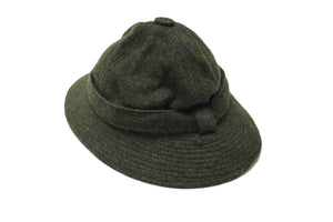 Vintage Green Wool Burberry Womens Hat