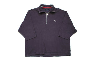 Vintage Navy Fred Perry Short Sleeve Quarter Zip