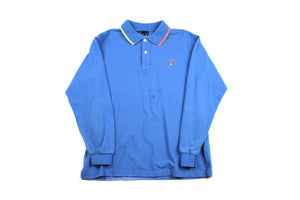 Vintage 00s Blue Fred Perry L/S Polo
