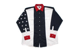 Vintage Tommy Hilfiger Colour Block Stars Overshirt