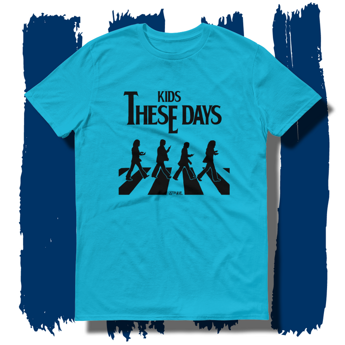 27th Ave. Kids these Days T-shirt - Caribbean Blue