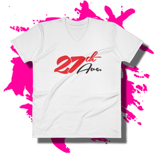 27th Ave. Curves V-Neck - White