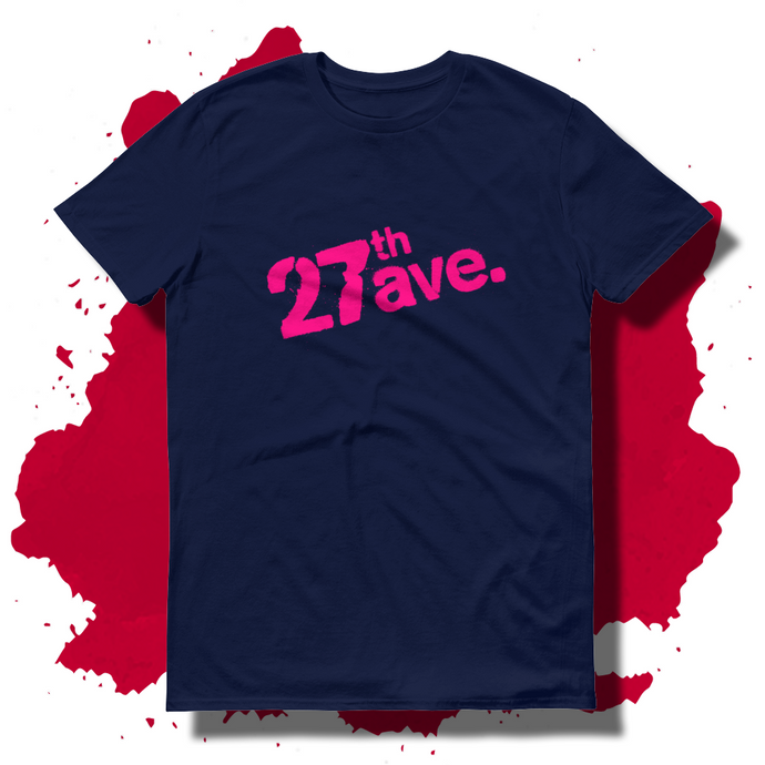 27th Ave. Stencil T-shirt - Navy