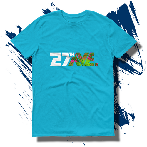 27th Ave. Tropical Depression T-shirt - Caribbean Blue