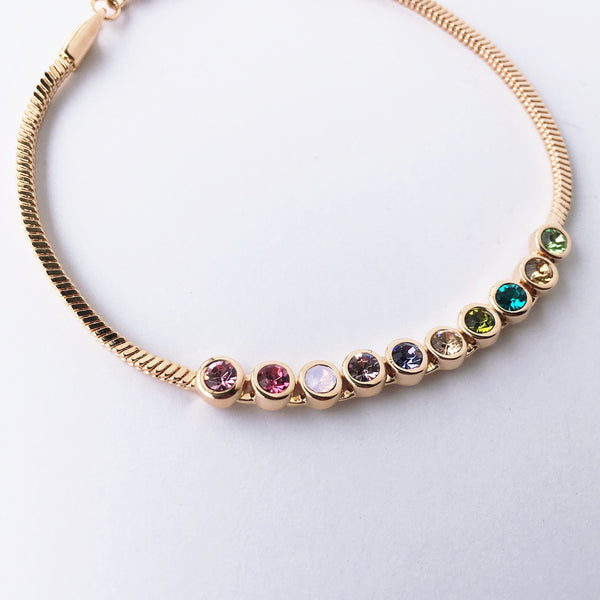 multi-color rhinestone bracelet