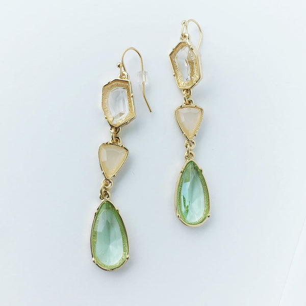Colorful crystal earrings