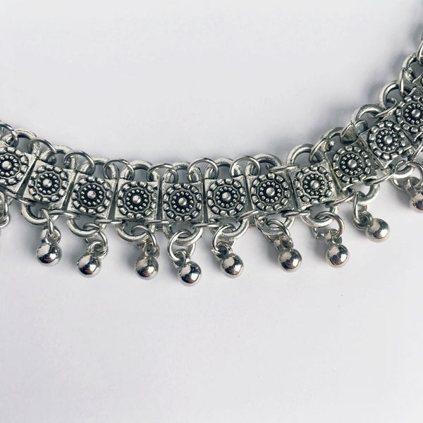Silver Bohemian Necklace
