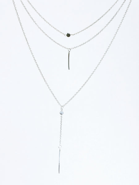 Multi-layer Silver Necklace