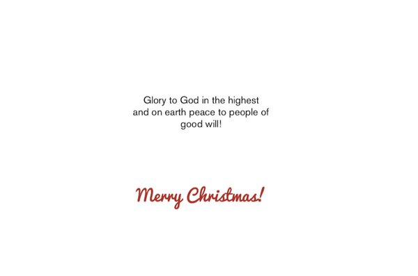 """Gloria"" Christmas Card Set - 6 cards/box"