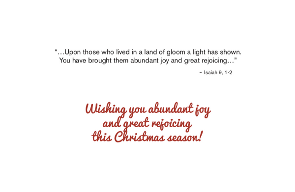 """A Great Light"" Christmas Card Set - 6 cards/box"