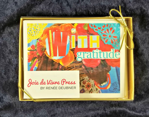 """With Gratitude"" Thank You Card Box Set - 8 small cards/box"