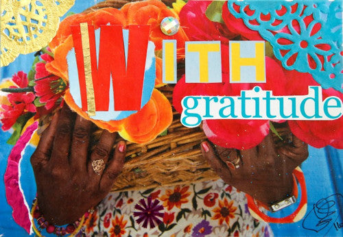 With Gratitude Thank you Card - Blank