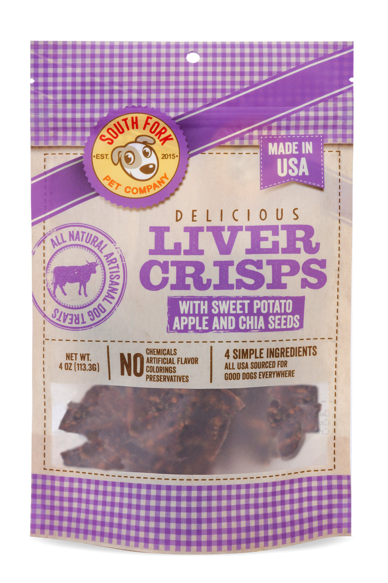 Liver Crisps with Sweet Potato, Apple and Chia Seeds