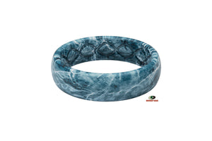 Thin Mossy Oak Spindrift Camo Silicone Rings