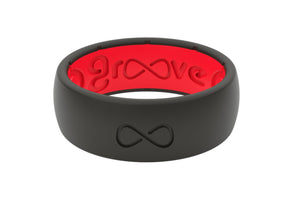 Black Red Silicone Rings
