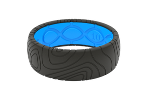 Mens Silicone Rings Topo Deep Stone Adventure
