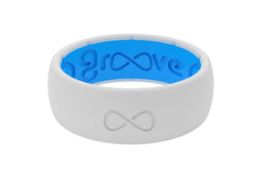 Snow Groove Silicone Wedding Rings