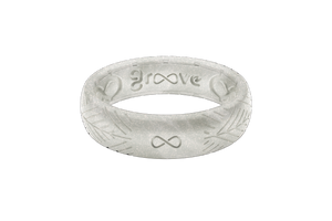 Silicone Ring Groove Dimension | Arrows - Pearl -Thin Eternity